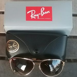 Brand New Brown Granite RayBan Aviators RB3386
